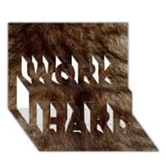 Silber Tiger Fur Work Hard 3d Greeting Card (7x5)  by timelessartoncanvas