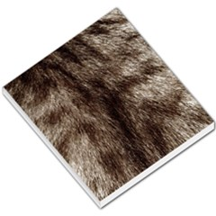 Black And White Silver Tiger Fur Small Memo Pads by timelessartoncanvas