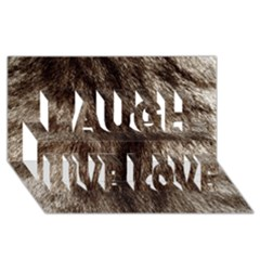 Black And White Silver Tiger Fur Laugh Live Love 3d Greeting Card (8x4)  by timelessartoncanvas