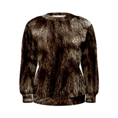 Black And White Silver Tiger Fur Women s Sweatshirt