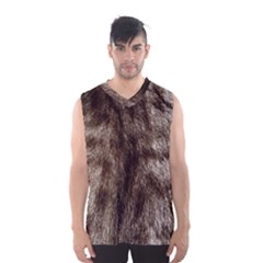 Black And White Silver Tiger Fur Men s Basketball Tank Top by timelessartoncanvas