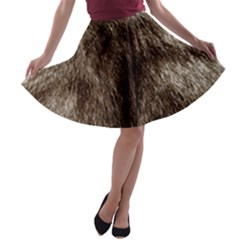 Black and White Silver Tiger Fur A-line Skater Skirt by timelessartoncanvas