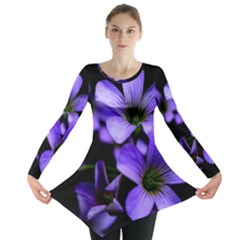 Springtime Flower Design Long Sleeve Tunic