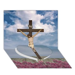 Jesus On The Cross Illustration Heart Bottom 3d Greeting Card (7x5)  by dflcprints