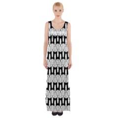 Bones Maxi Thigh Split Dress