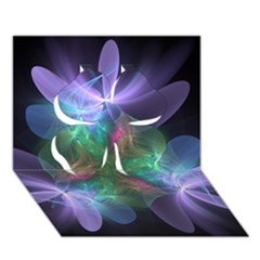 Ethereal Flowers Clover 3d Greeting Card (7x5)