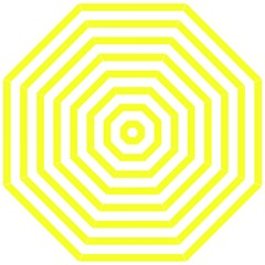 Bright Yellow and White Stripes Golf Umbrellas by timelessartoncanvas
