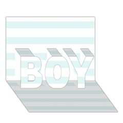 Baby Blue And White Stripes Boy 3d Greeting Card (7x5) by timelessartoncanvas