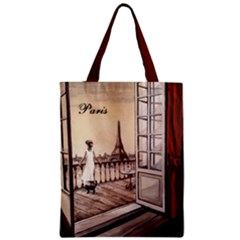 Paris Paws For Thought Zipper Classic Tote Bag by ArtByThree