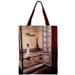 Paris Paws For Thought Zipper Classic Tote Bag