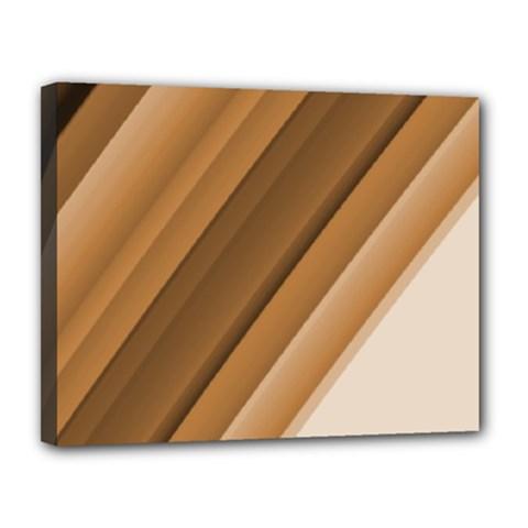 Metallic Brown/neige Stripes Canvas 14  X 11