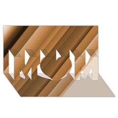 Metallic Brown/neige Stripes Mom 3d Greeting Card (8x4)  by timelessartoncanvas