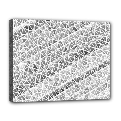 Silver Abstract And Stripes Canvas 14  X 11  by timelessartoncanvas