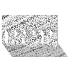 Silver Abstract And Stripes Mom 3d Greeting Card (8x4)