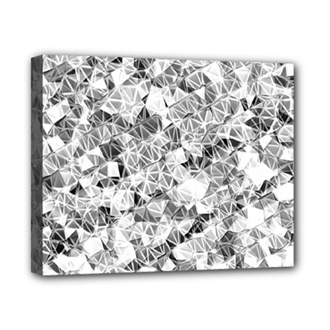 Silver Abstract Design Canvas 10  X 8  by timelessartoncanvas