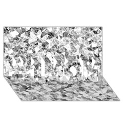 Silver Abstract Design #1 Mom 3d Greeting Cards (8x4)  by timelessartoncanvas