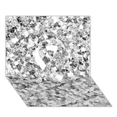Silver Abstract Design Ribbon 3d Greeting Card (7x5)  by timelessartoncanvas