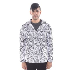 Silver Abstract Design Hooded Wind Breaker (men) by timelessartoncanvas