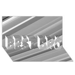 Elegant Silver Metallic Stripe Design Best Bro 3d Greeting Card (8x4)  by timelessartoncanvas