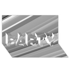Elegant Silver Metallic Stripe Design Party 3d Greeting Card (8x4)  by timelessartoncanvas