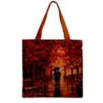Unspoken Love Zipper Grocery Tote Bag