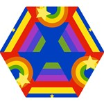 Rainbow Mini Folding Umbrella