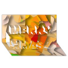 Red Spot Merry Xmas 3d Greeting Card (8x4)