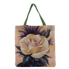 Yellow Rose Grocery Tote Bag by ArtByThree