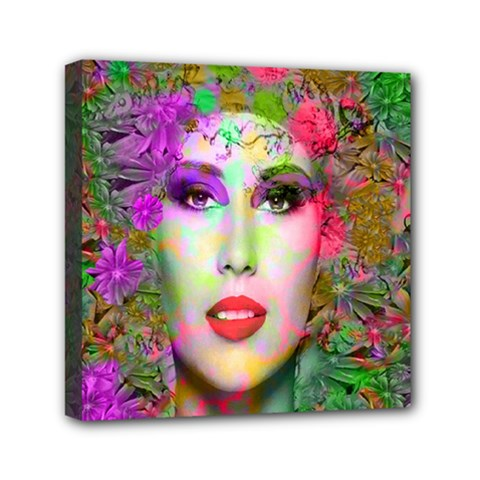 Flowers In Your Hair Mini Canvas 6  X 6  by icarusismartdesigns