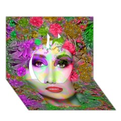 Flowers In Your Hair Apple 3d Greeting Card (7x5)  by icarusismartdesigns