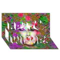 Flowers In Your Hair Best Wish 3d Greeting Card (8x4)  by icarusismartdesigns