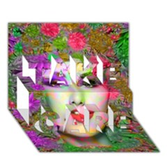 Flowers In Your Hair Take Care 3d Greeting Card (7x5)  by icarusismartdesigns