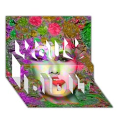Flowers In Your Hair You Did It 3d Greeting Card (7x5) by icarusismartdesigns