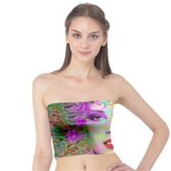 Flowers In Your Hair Tube Top by icarusismartdesigns