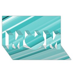 Teal And White Fun Mom 3d Greeting Card (8x4)