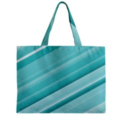 Teal And White Fun Zipper Mini Tote Bag by timelessartoncanvas