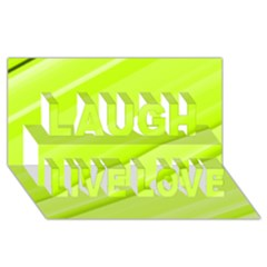 Bright Green Stripes Laugh Live Love 3d Greeting Card (8x4)  by timelessartoncanvas
