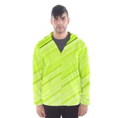Bright Green Stripes Hooded Wind Breaker (men) by timelessartoncanvas