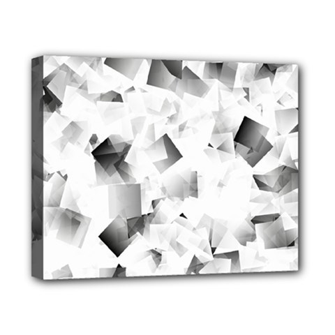 Gray And Silver Cubes Abstract Canvas 10  X 8  by timelessartoncanvas
