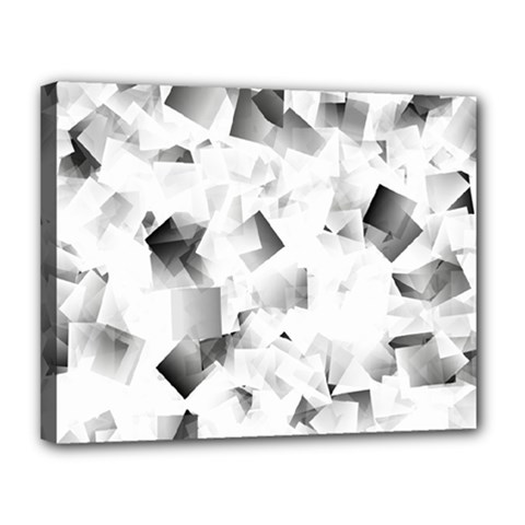 Gray And Silver Cubes Abstract Canvas 14  X 11  by timelessartoncanvas