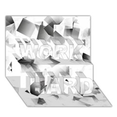 Gray And Silver Cubes Abstract Work Hard 3d Greeting Card (7x5)  by timelessartoncanvas