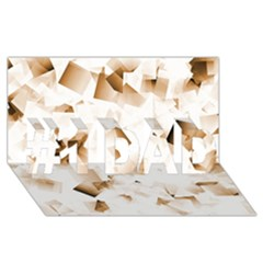 Modern Brown Cubes #1 Dad 3d Greeting Card (8x4)  by timelessartoncanvas