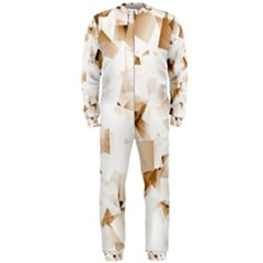 Modern Brown Cubes Onepiece Jumpsuit (men)  by timelessartoncanvas