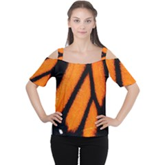 Butterfly design 1 Women s Cutout Shoulder Tee