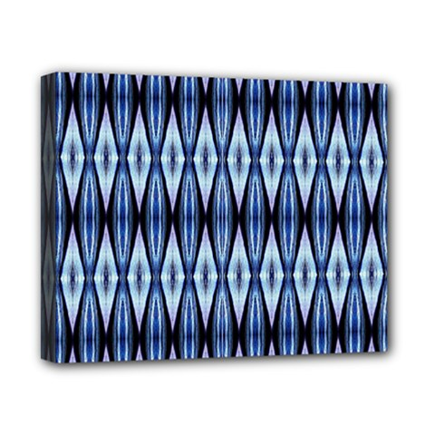 Blue White Diamond Pattern  Canvas 10  X 8