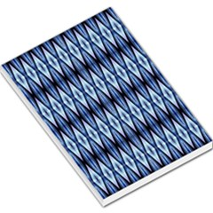 Blue White Diamond Pattern  Large Memo Pads by Costasonlineshop