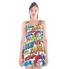 Comic Book Sounds Scoop Neck Skater Dress by ComicBookPOP