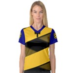Barbados Women s V-Neck Sport Mesh Tee