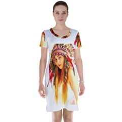 Indian 26 Short Sleeve Nightdress