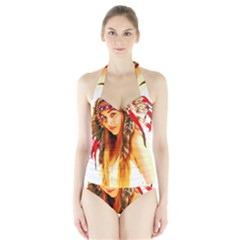 Indian 26 Women s Halter One Piece Swimsuit